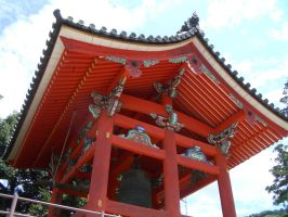 Japan red temple detail by CAStock