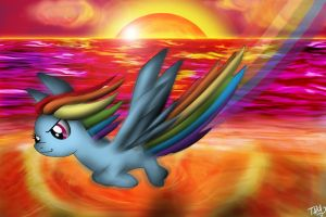 MLP - Rainbow Dash Sunset by miguelbaba