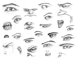 Eyes and face parts by the-error404