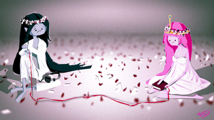 Just Be Friends-Marceline and Bubblegum by MEW-tiful