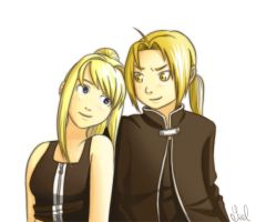 Ed and Winry by Irrel