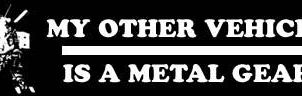 Metal Gear Bumper Sticker by DTJB