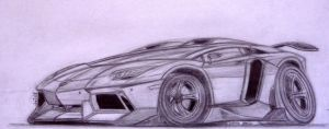 Lamborghini Aventador Toon Sketch by theTobs