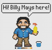 Deluxe Billy Mays x-stitch by NurseTab