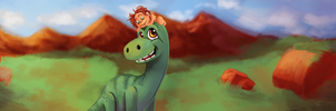 Good Dinosaur Let's smile by SurrealMime