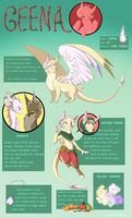 Geena Reference Sheet 2014 by Insaneus