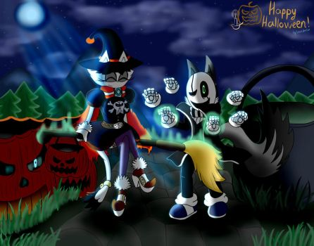 [Ruben and Ellis] - Spooky Night! by EngieTheCat