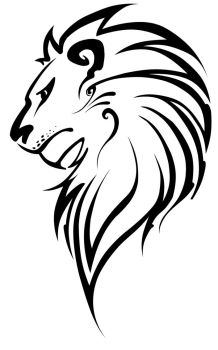 lion vector improved by 1j9e8p7