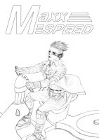 Maxx Speed cover lineart by guugoo