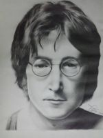 John Lennon of The Beatles by RJramirez