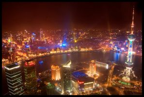 Shanghai From Above by FreddyC