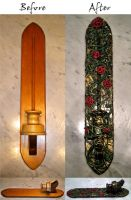 Beauty and the Beast Rose Sconce by ErikAngelofMusic