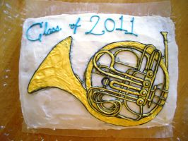 French Horn Cake by iliketodoodle