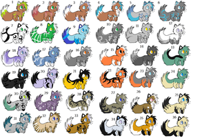 Bunch of adopts by Icey-adopts