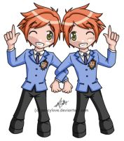 chibi - ouran - twins by percylove