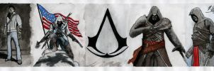 Assassin's Creed Bookmark by xdazamx