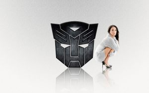 Megan Fox + Transformer Logo by deviantdutchie