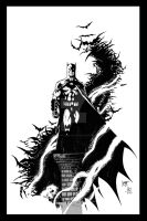 Ken Hunt Batman - Sample Inks by JeffGraham-Art
