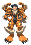 Machamp and Arcanine suit 03 by midorimushiG