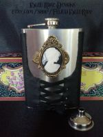 Black Steampunk Hip Flask by Justenjoyinglife