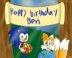 Happy birthday, Ben :D by MillyTheSnowtiger