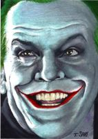 The Joker sketch card by Dr-Horrible