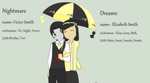 rotg oc: Dream and Nightmare by axelfangirl956