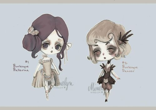 (OPEN - 1 left! CHEAPER!) Chibi Burlesque Adopts by Ninelyn