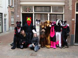 fursuit group pic utrecht by FurryFursuitMaker