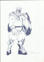 M.Bison drw by F-Penhandler