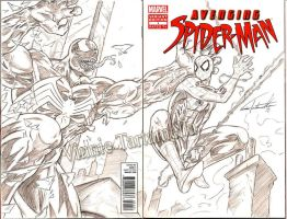 Avenging Spiderman sketch cover by VinRoc