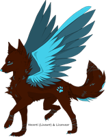 .:Free to use:. Winged wolf by licorneor