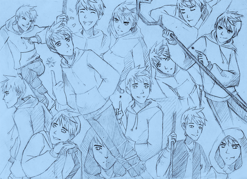 RotG: Jack Frost sketches by Mimint