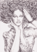 Medusa pencil by Verbeley