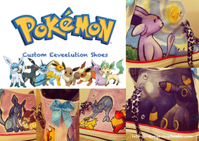 SOLD: Eeveelution Custom Shoes by XxPonyPuffPrincessXx