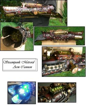 Steampunk Metroid Arm Cannon by Skinz-N-Hydez