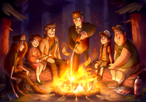 ::GF:: Last campfire of the summer by Mistrel-Fox