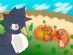Battle: Honchkrow! by crystal-latias