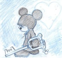 King Mickey sketch by kolidescope