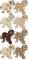 female lion cubs ~ For Sale OPEN by Foreverloved525
