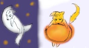 Sun And Moon. by LoneWolf-FarAway