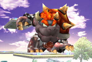 Brawl Mod- Strikers Charged Bowser by RosalinaSama
