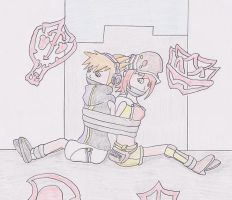 Neku and Shiki Taped Up by TraceMem