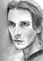 Christian Bale pencil portrait by Skylark6277