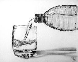 Pouring water from a bottle by Hannaasfour