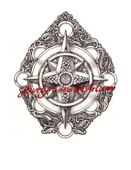 Compass rose 3 by Feivelyn
