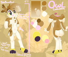 (OC) Owl Reference Sheet by Tacotron2000