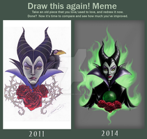 Draw this Again: Maleficent by YellowRavenInk