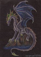 Blackpaper Dragon by Ember-Eyes