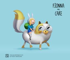 FIONNA and CAKE by PauZak